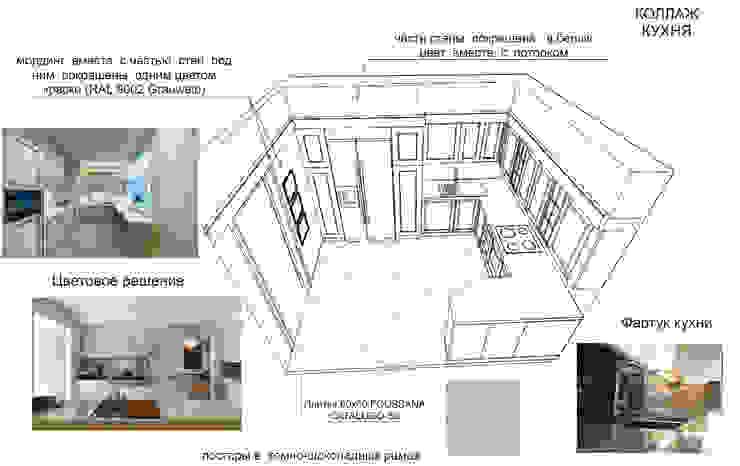 Дизайн проект трехкомнатной квартиры в Москве. Кухня в стиле лофт от Скулков Павел Лофт