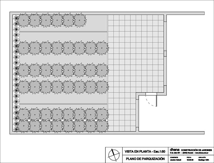 Plano conceptual de Dhena CONSTRUCCION DE JARDINES