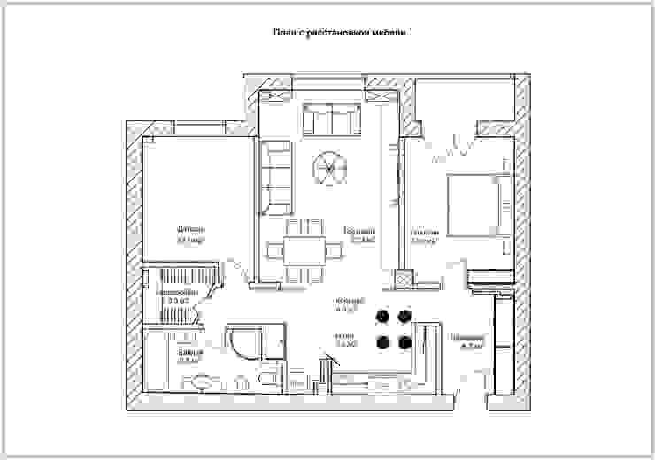 План с расстановкой мебели:  в современный. Автор – Скулков Павел, Модерн