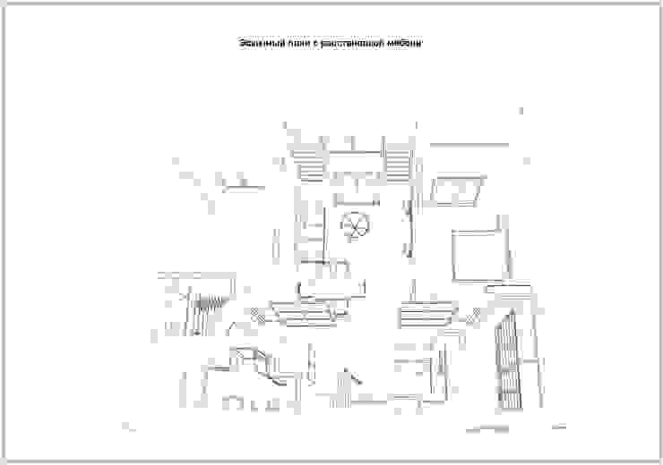 Эскизный план помещений:  в современный. Автор – Скулков Павел, Модерн