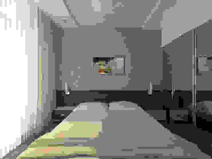 Перепланировка из двушки в трешку Спальня в стиле модерн от Скулков Павел Модерн