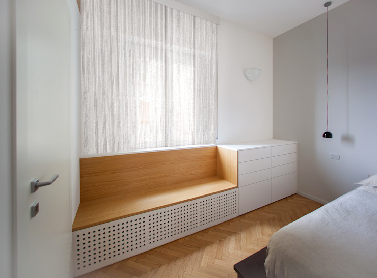 Minimalistische Schlafzimmer von OKS ARCHITETTI Minimalistisch