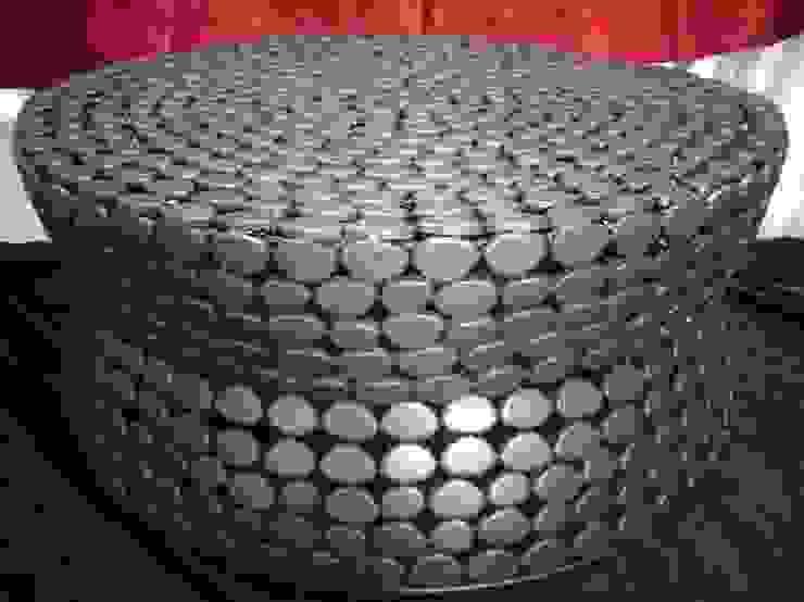 Iron Pebble Table: modern  by Overseas Trading Corporation,Modern Iron/Steel