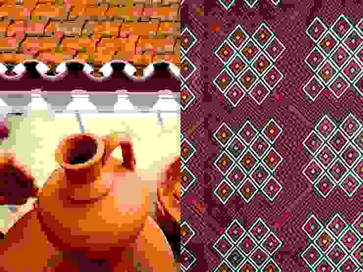 padrão 3- terracota por tramadesign Campestre Linho Rosa