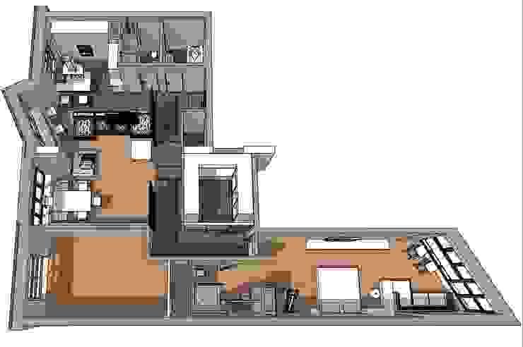 Один из вариантов планировки, послуживший основой от CHM architect Минимализм