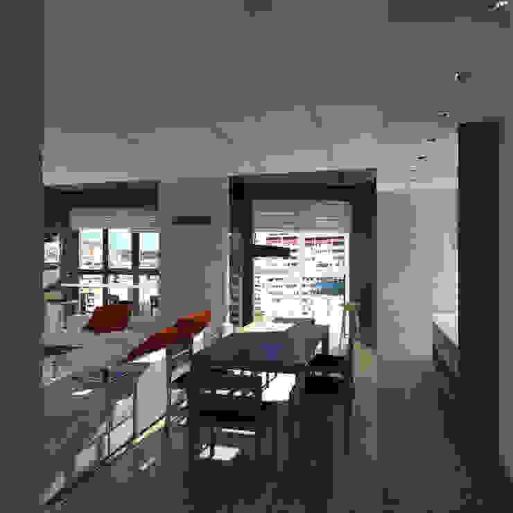 Минималистический лофт в жилом комплексе 'Ньютон. Москва, 2015 Гостиная в стиле лофт от CHM architect Лофт