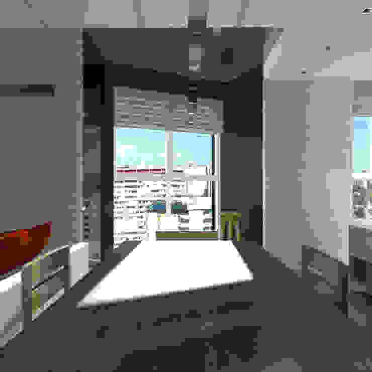 Минималистический лофт в жилом комплексе 'Ньютон. Москва, 2015 Столовая комната в стиле лофт от CHM architect Лофт