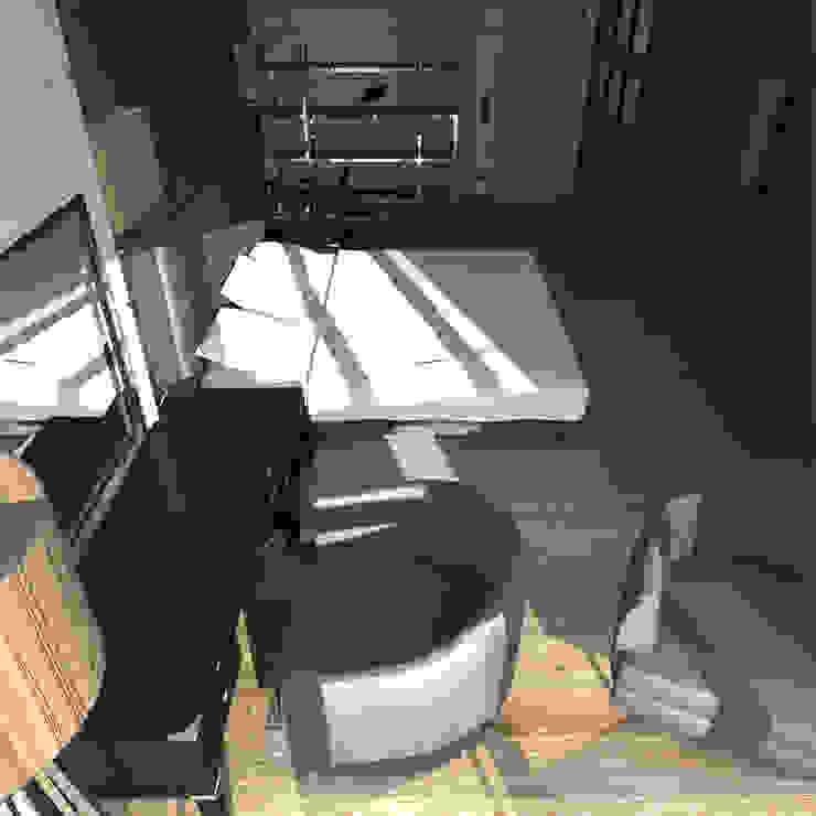 Минималистический лофт в жилом комплексе 'Ньютон. Москва, 2015 Спальня в стиле минимализм от CHM architect Минимализм