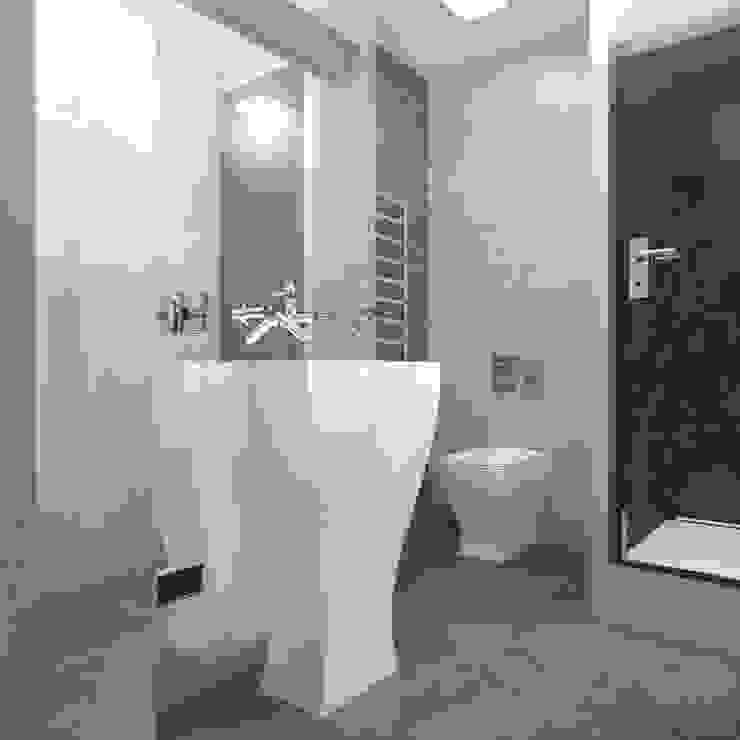 Минималистический лофт в жилом комплексе 'Ньютон. Москва, 2015 Ванная комната в стиле минимализм от CHM architect Минимализм