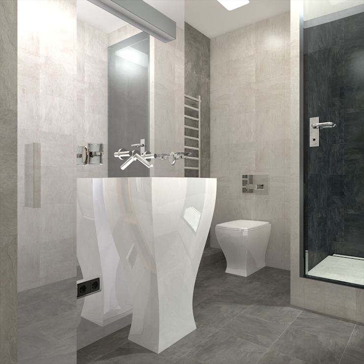 CHM architect Minimalist style bathroom