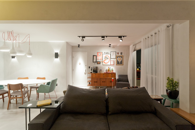 RESIDÊNCIA VENDRAMIN Salas de jantar industriais por felipe torelli arquitetura e design Industrial Tijolo