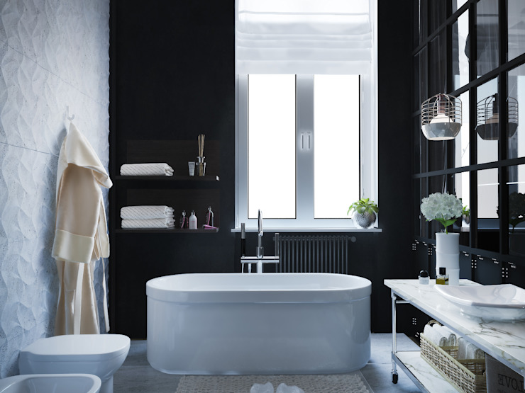 Minimalist style bathrooms by ONE STUDIO Minimalist