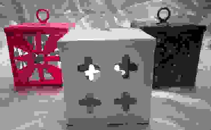Hand Crafted Ceramic Lantern: modern  by Overseas Trading Corporation,Modern Iron/Steel