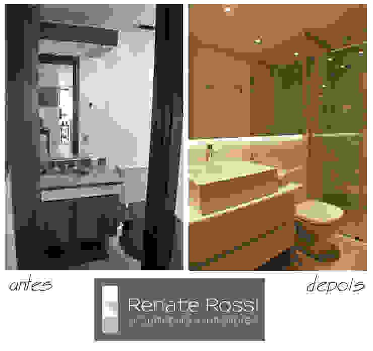 Banheiro Hospede por Renate Rossi Arquitetura + Interiores