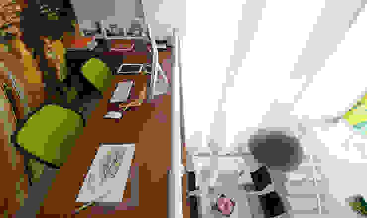 Lote estreito casa espaçosa. Escritórios modernos por Magno Moreira Arquitetura Moderno