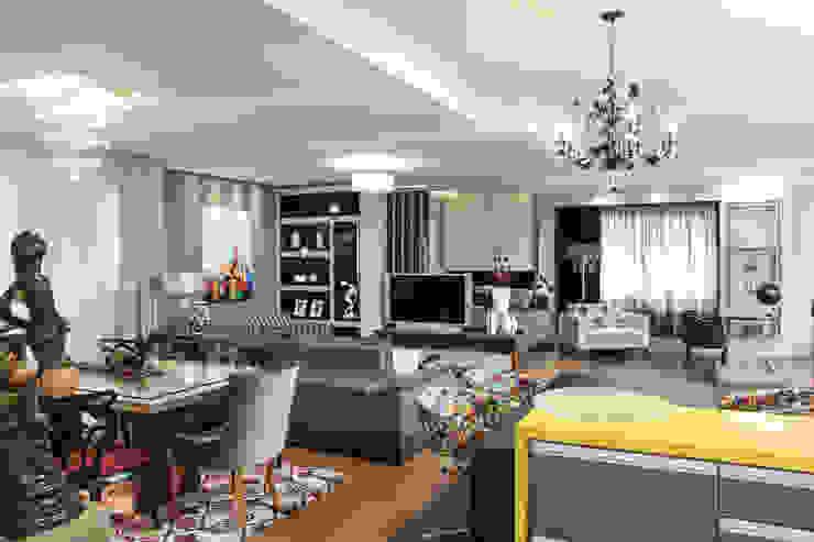 Living por Sgabello Interiores Moderno