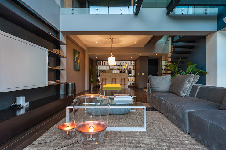 Salon original par MAAD arquitectura y diseño Éclectique