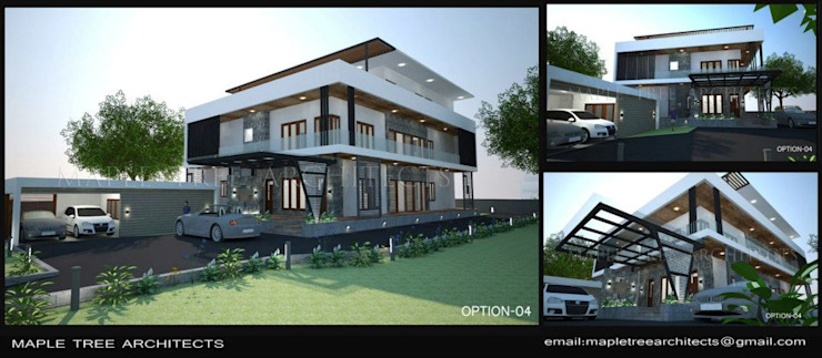 Villa at Mico Layout Bangalore Modern houses by MAPLE TREE Modern