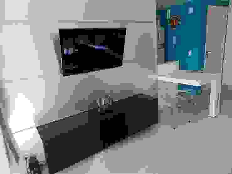 estar jovem Salas de estar minimalistas por ANE DE CONTO arq. + interiores Minimalista