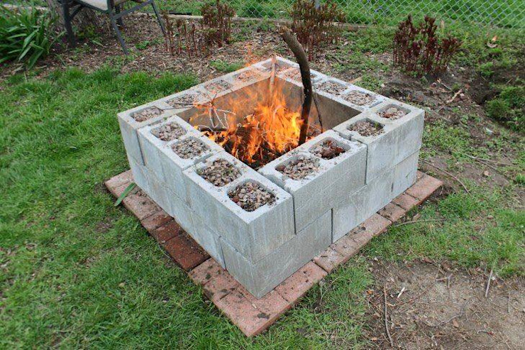 Jara y Olmo S.L Garden Fire pits & barbecues Bricks Grey