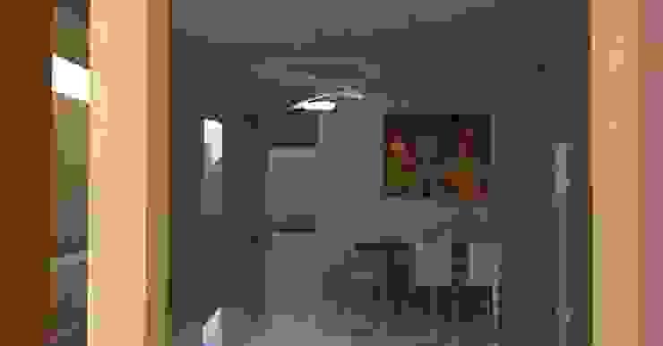 3R. ARQUITECTURA Minimalist living room Wood White