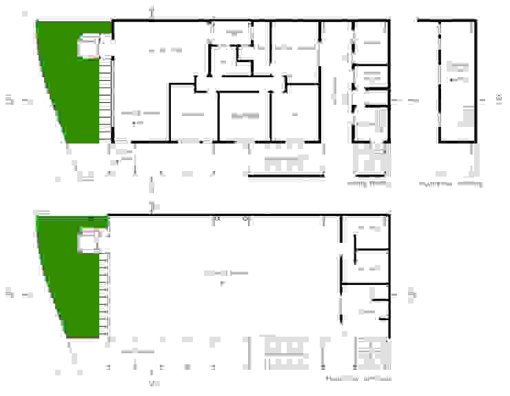 Plantas Locais de eventos modernos por Douglas Piccolo Arquitetura e Planejamento Visual LTDA. Moderno