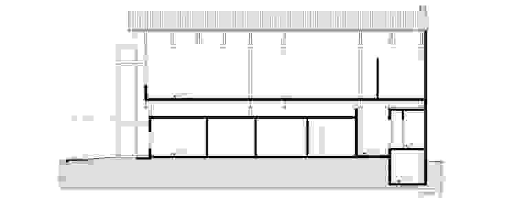 Corte Locais de eventos modernos por Douglas Piccolo Arquitetura e Planejamento Visual LTDA. Moderno