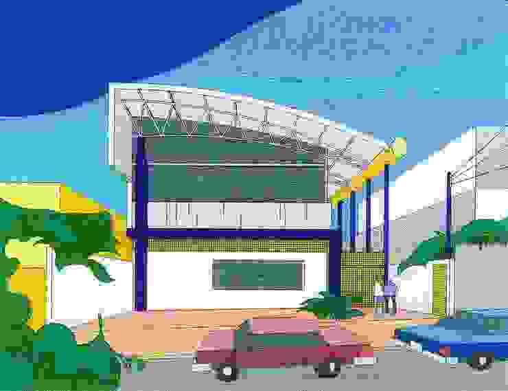 Perspectiva Locais de eventos modernos por Douglas Piccolo Arquitetura e Planejamento Visual LTDA. Moderno