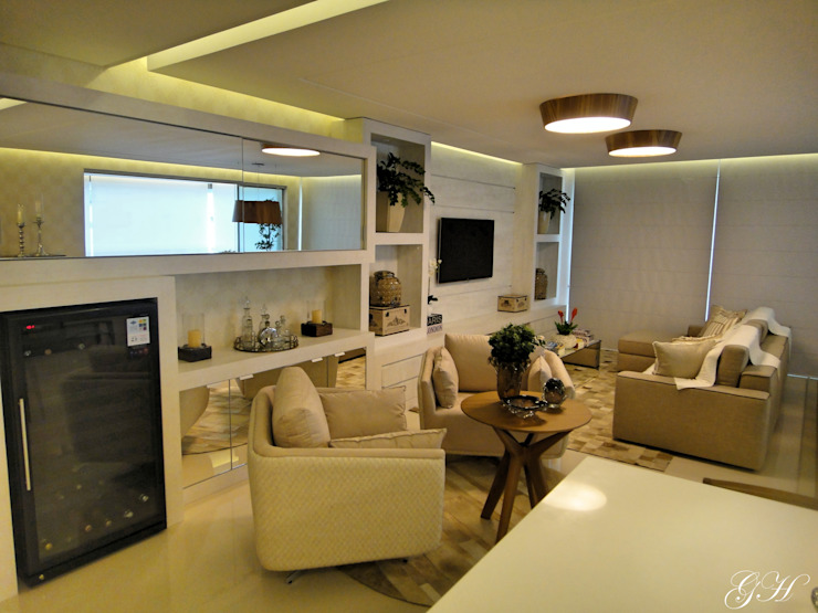 Livings de estilo moderno de Gabriela Herde Arquitetura & Design Moderno