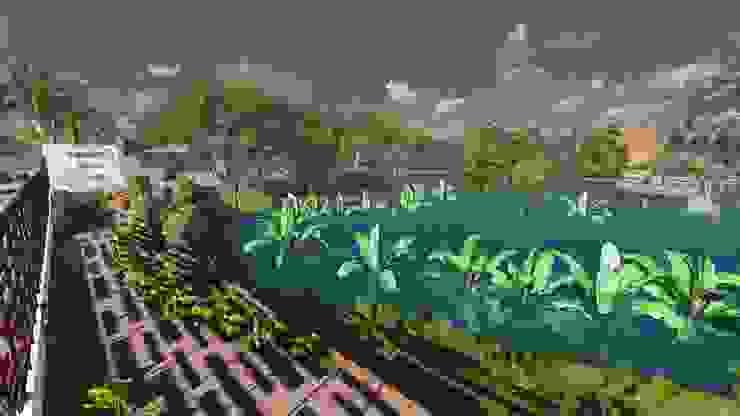 Parque de las orquideas Jardines de estilo rural de OrCA Rural
