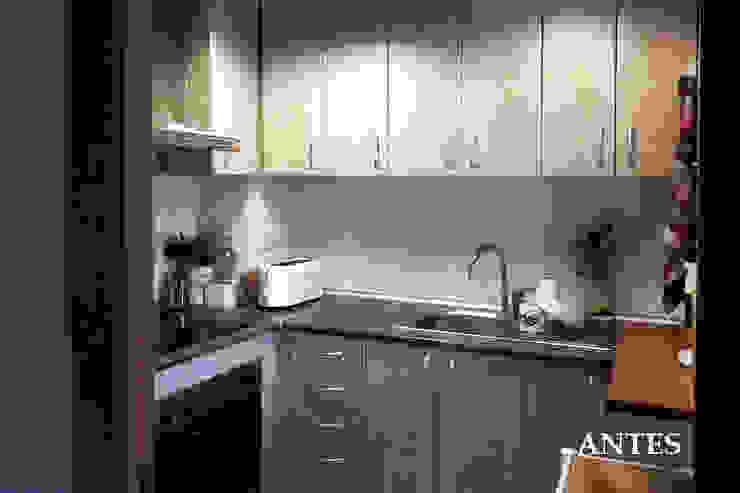 La cocina antes de la reforma de mobla manufactured architecture scp