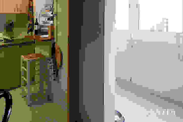 Antes. Separación cocina y galería de mobla manufactured architecture scp