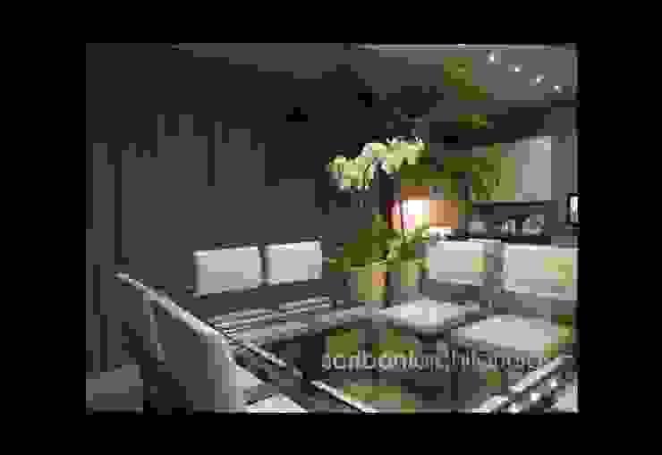 Sala de Estar e Jantar - Salas de estar ecléticas por architettura|Scriboni Eclético Alumínio/Zinco