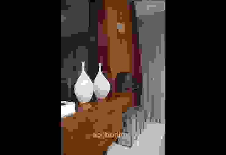 Sala de Estar e Jantar - por architettura|Scriboni Eclético Madeira Efeito de madeira
