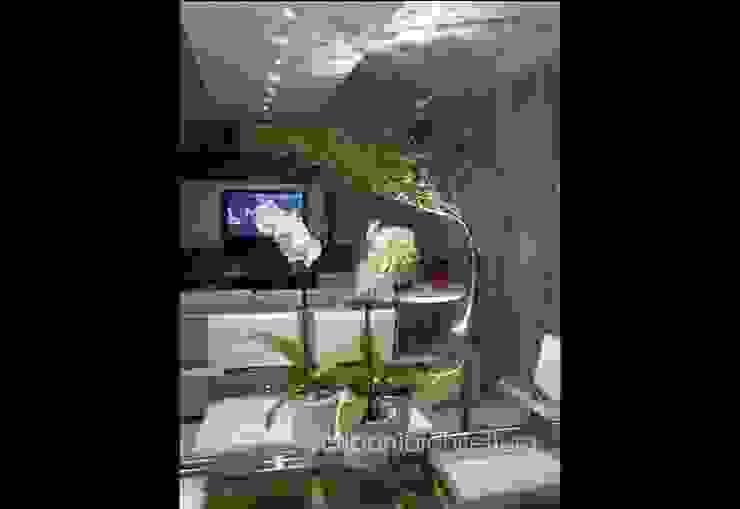Sala de Estar e Jantar - Salas de jantar ecléticas por architettura|Scriboni Eclético Alumínio/Zinco
