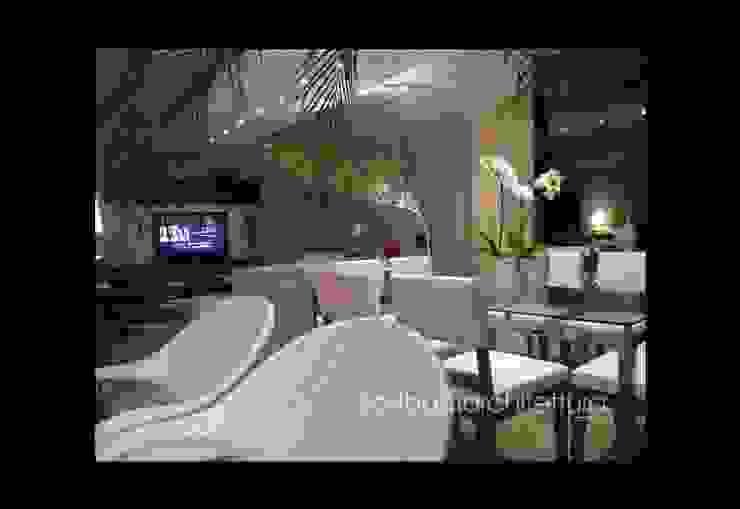 Sala de Estar e Jantar - Salas de jantar modernas por architettura|Scriboni Moderno Sintético Castanho