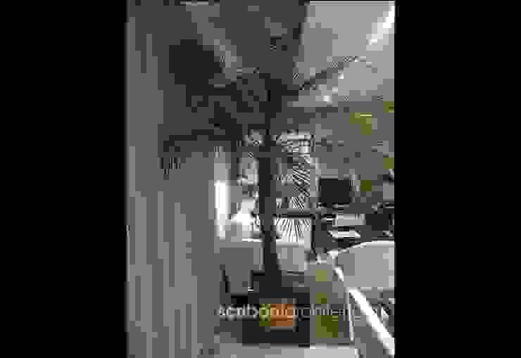 Sala de Estar e Jantar - Salas de jantar ecléticas por architettura|Scriboni Eclético Fibra natural Bege