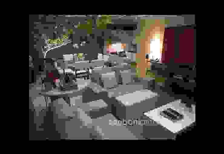 Sala de Estar e Jantar - Salas de estar modernas por architettura|Scriboni Moderno Sintético Castanho
