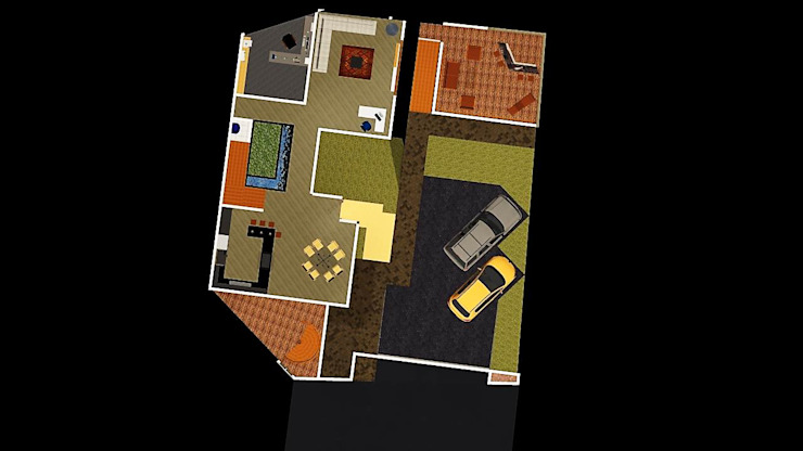 Sala da pranzo moderna di Arquitectos I + A Moderno