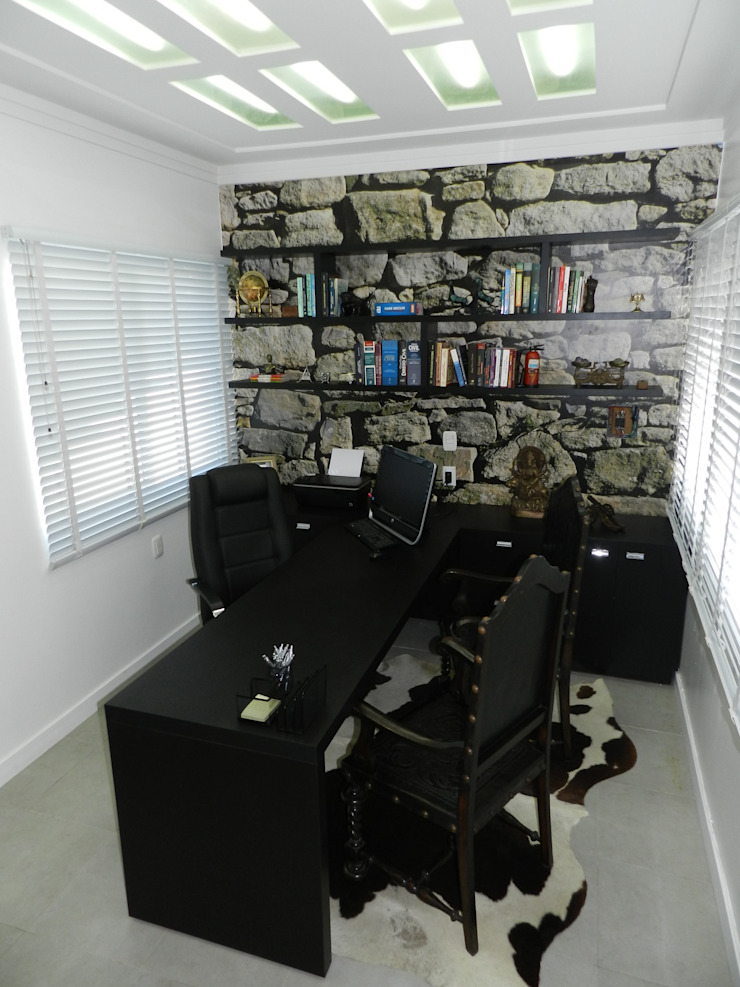 Sala de atendimento Espaços comerciais minimalistas por ANE DE CONTO arq. + interiores Minimalista