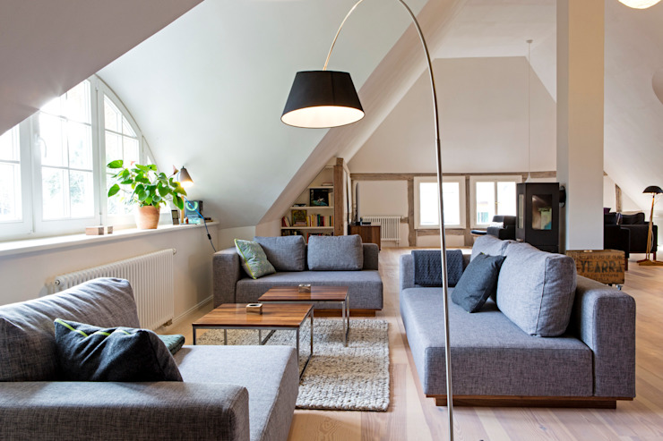 Scandinavian style living room by Planungsgruppe Barthelmey Scandinavian