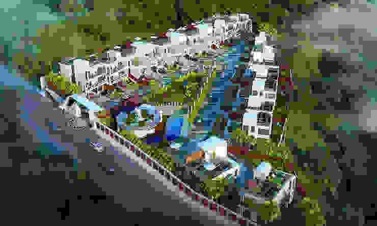 MODERN GREEK THEMED BUNGALOW SCHEME,KHANDALA Mediterranean style houses by AIS Designs Mediterranean