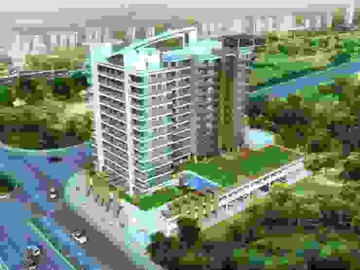 AERIAL Modern houses by AIS Designs Modern