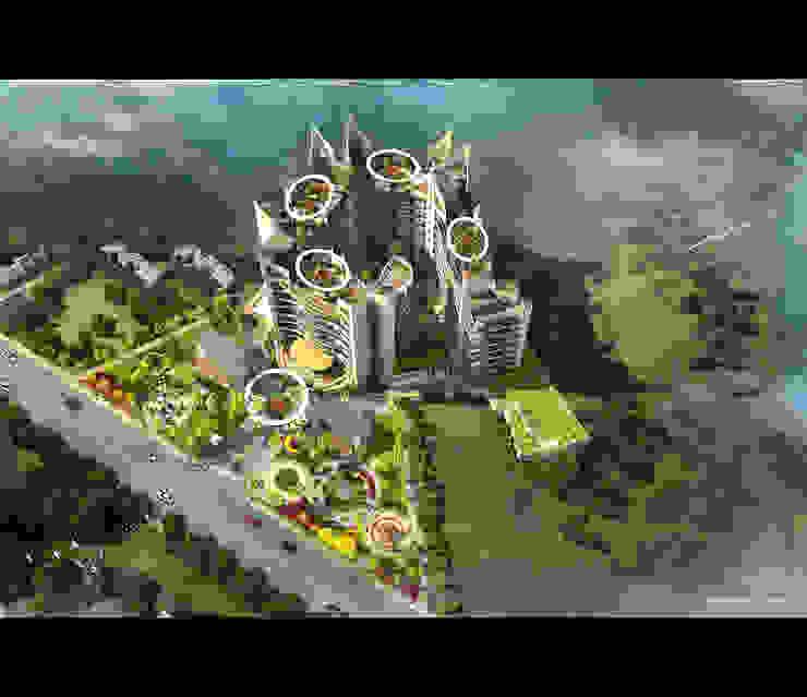SIGNATURE-AERIAL Modern houses by AIS Designs Modern