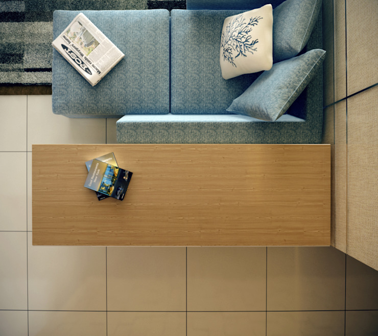 Singh Residence Space Interface Modern living room