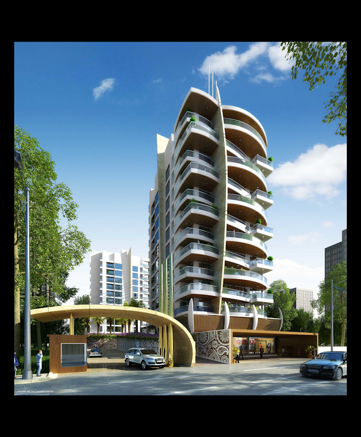NEEL PREMIUM Modern houses by AIS Designs Modern