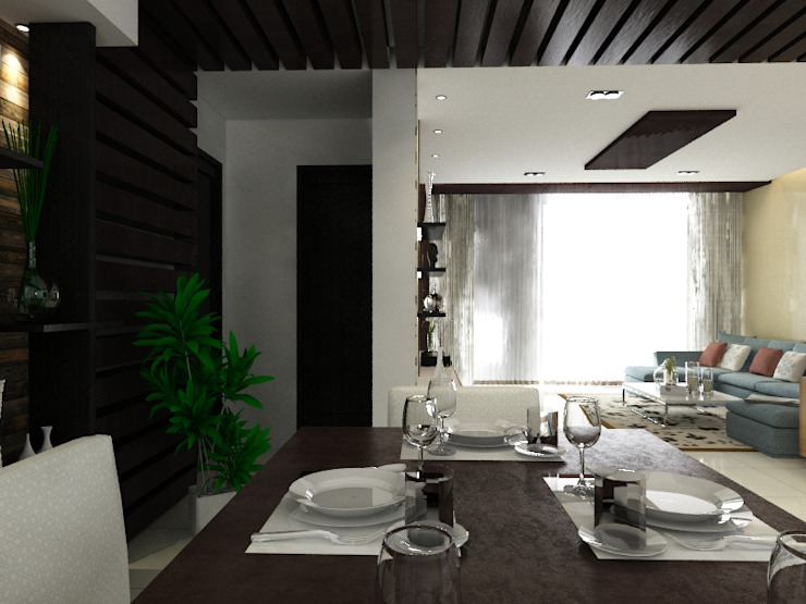 Singh Residence Modern dining room by Space Interface Modern