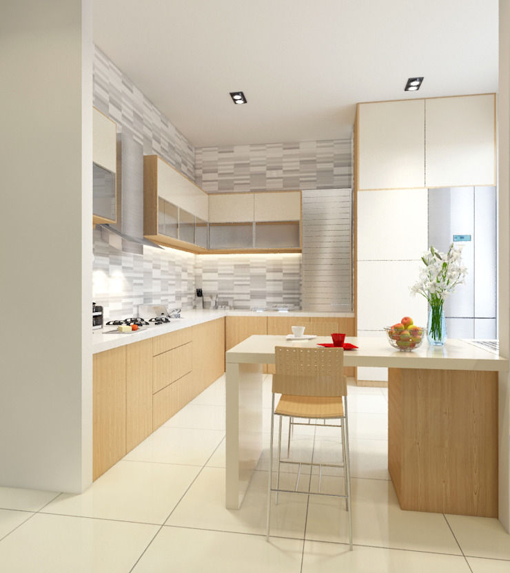Singh Residence Space Interface Modern kitchen