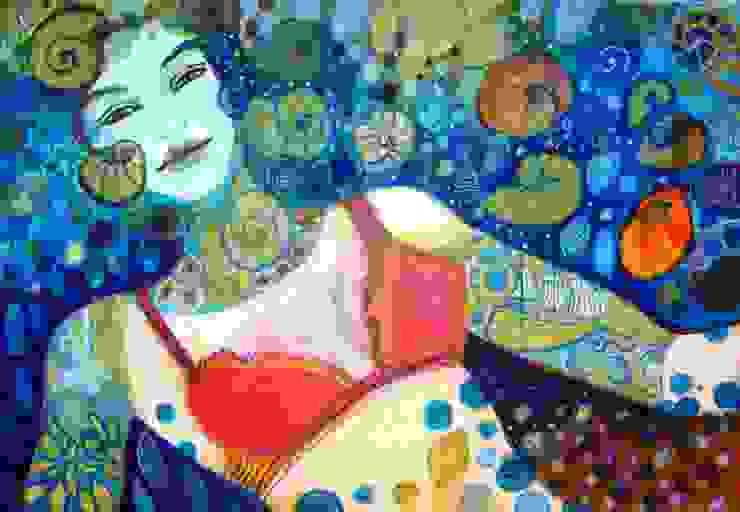 mediterranean  by Anita Smile, Mediterranean Textile Amber/Gold