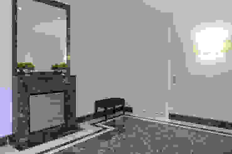 beyond REAL ESTATE Modern corridor, hallway & stairs